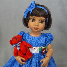 ~ TRIXIE TONNER TAKES THE TEDDY ~ Blue Dress & Slip SET for Patsy & Ann Estelle,
