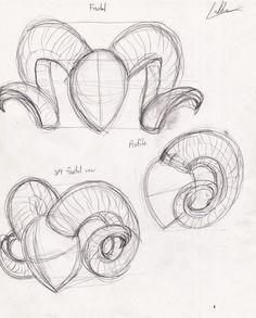Resultado de imagen para how to draw horns