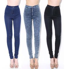 Fashion 2015 Women High Waist Slim Jeans Stretch Denim Cotton Trousers Pencil Cowboy Pencil Pants Female on http://ali.pub/nu9jg