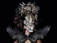 Philip Treacy X Alexander McQueen, Fashion, Identity, Design, Student, Jewellery, Accessories, Millinery, Metalwork, University, Project, Inspiration, Headwear, Armour, Protection, Editorial, Headdress