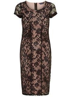 Robe rose poudré et noire - Grande taille - Robes de Soirée - Robes