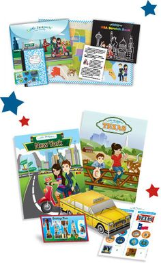 Little Passports USA Edition: Sam and Sofia then travel to two new states every month and send an activity-packed travel journal with stickers, postcards, pop-out models and access to online activities. Little Passports, Discovery Kit, Geography For Kids, Kids Usa, Cool Mom Picks, Kits For Kids, Holiday Wishes, Activity Games, Toys For Girls