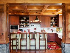 Arts and Crafts kitchen painted island Sapele cabinetry overall Craftsman Door, Craftsman Style, Craftsman Chandeliers, Create Your Own Furniture, Crown Point Cabinetry, Painted Island, Modular Homes, Kitchen Cabinetry, Custom Cabinetry