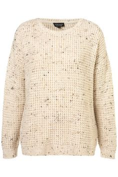 Knitted Speckle Slouch Jumper