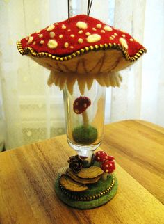 I thrifted some liqueur glasses.... by woolly  fabulous, via Flickr