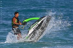 Jet skiing! Its so much fun! Would love to do this out in La Jolla CA!