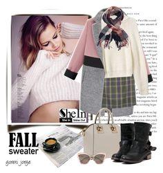 """Fall sweater - Shein"" by goreti ❤ liked on Polyvore featuring mode, Miu Miu en shein"