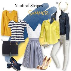 nautical stripes photo