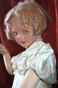 Old 1930's Vintage Child Size Shop Mannequin Moveable Arms Sweet Expression |