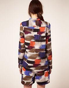 Kookai Ikat Print Shirt