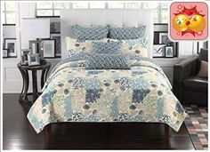 #bedding Our quilt sets can #also be used as bedspreads, coverlets, comforters and room decoration art craft. y. All quilt sets include pillow shams. #Full/queen ...