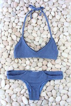 made by dawn — shell picker jean blue bikini Fashion Design Inspiration, Mode Inspiration, Summer Suits, Summer Wear, Bikinis 2016, Lingerie Design, Made By Dawn, Estilo Lolita, Cute Bathing Suits