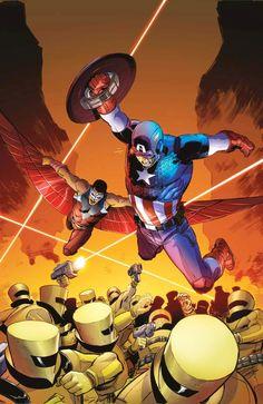 Captain America & Falcon