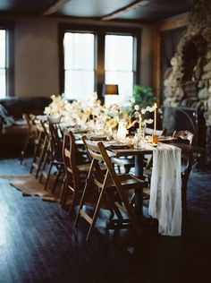 moody wedding tables
