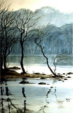 Loch Tummel - 'A bit of Scotland in the original watercolor by Philip Hilton