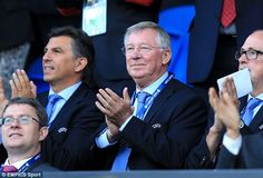 United snub: Ferguson chose to watch the clash in Cardiff instead of travelling to Manches...