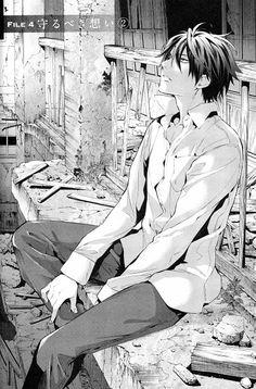 Tags: Anime, Manga Page, Official Art, Shinrei Tantei Yakumo, Saitou Yakumo