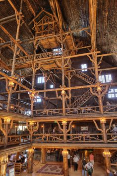 """Old Faithful Inn at Yellowstone National Park in Wyoming. """"The largest log structure in the world."""" Starting at about $105 per night, but must book well in advance."""