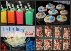 images of a lego cupcakes   The kids also got some Lego candies and Lego colored M to take home ...
