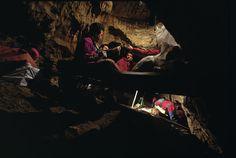 Working in the Pit of Bones Sima de Los Huesos - Image © Javier Trueba / Madrid Scientific Films
