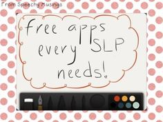 Free apps every SLP needs for the iPad with descriptions on how to use them!