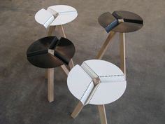 Get HairStyle Ideas and Tips Laser Art, Multifunctional Furniture, Wooden Leg, Minimalist Furniture, Steel Furniture, Furniture Design, Stool, Projects To Try, Dots