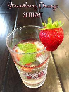 Strawberry Orange Spritzer | @fairyburger