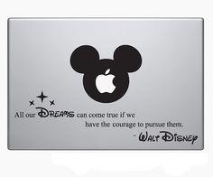 Sticker pour ordinateur portable-ordinateur portable autocollant – fenêtre de la voiture autocollant – sticker Macbook Air, Macbook Pro – Hipster - Disney - Mickey Mouse