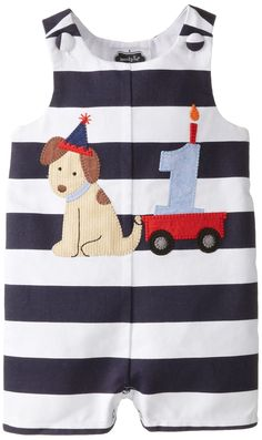 Mud Pie Baby Boys' First Birthday Puppy Shortall, Blue, 12 18 Months Little Boy Outfits, Toddler Outfits, Baby Boy Outfits, Kids Outfits, 1st Birthday Outfit Boy, Baby Boy First Birthday, Birthday Gifts, Toddler Fashion, Kids Fashion