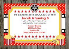 movie ticket template Movie Themed Birthday Party Invitation Ideas