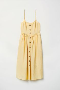 Dress with Buttons - Light yellow