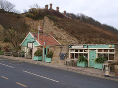 Wits End Cafe. Sandsend, North yorkshire right at the very end of the beach