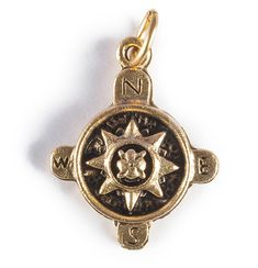 Compass charm symbolizes four directions: North, West, East, and South. Each direction has a meaning depending on the culture, but overall symbolizes the spirit. Wear it along with initial charm and b