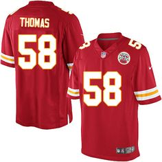 5f14c5928a3 Nike Limited Derrick Thomas Red Men s Jersey - Kansas City Chiefs  58 NFL  Home