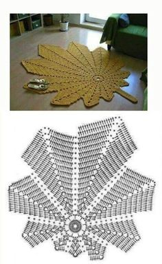 The crochet is known worldwide as one of the techniques handmade more beautiful and easy to make parts in crochet are very fam – Artofit Crochet Applique Patterns Free, Crochet Diagram, Crochet Stitches Patterns, Filet Crochet, Knitting Patterns, Crochet Carpet, Crochet Home, Crochet Crafts, Crochet Leaves