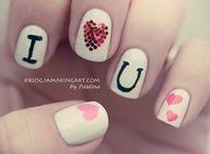 I heart you nails