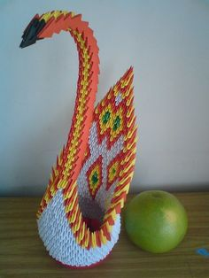 A Modular Origami Swan One Of My First Projects