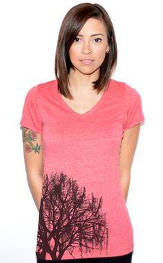 Artisan Tees - Mossy Tree V-neck T-shirt Shirts For Girls, V Neck T Shirt, Artisan, Tees, Cotton, Clothes, Collection, Design, Fashion