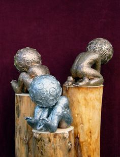 COSMIC KIDS | Bronze/Aluminum | 45 cm. height | [please send a mail for the price]