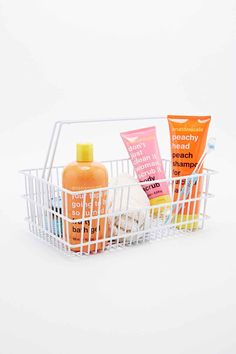 Bathroom Storage Caddy Crate in White - Urban Outfitters