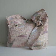 Slouch hobo bag   messenger  cross body bag  cotton by Sisoibags, $33.00