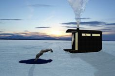 A woman in Finland had to wait 12 years to get permission to build her recycled sauna!
