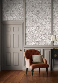 Guv'nor; a muted, yet warm grey brown named after Henry Brown's popular nickname amongst colleagues 'The Guv'nor'. Warm Grey, Brown And Grey, Brown Paint, Designer Wallpaper, Accent Colors, Bedroom Wall, Wall Ideas, Decor Ideas, Living Room