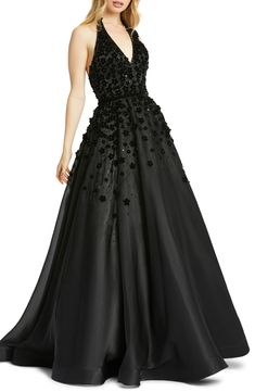 Ball Dresses, Ball Gowns, Evening Dresses, Prom Dresses, Formal Dresses, Black Formal Gown, Formal Wear, Backless Gown, Halter Gown