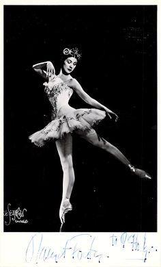 Margot Fonteyn (1919 – 1991), was an english ballerina of the 20th Century and is widely regarded as one of the greatest classical ballet dancers of all time. Signed photo, shown dancing, 3.25 x 5.5 i