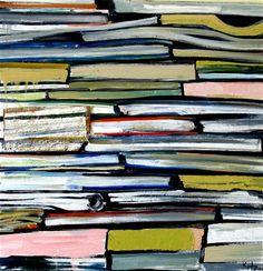 """""""Books"""": Kim Kitz,  oil painting"""