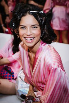 It's the sexiest day of the year—the annual Victoria's Secret Fashion Show will takes place tonight in New York City. Photographer Nina Westervelt went backstage at the lingerie extravaganza to capture all the prep work—but these top models make it all look so easy. Plus, get an exclusive look at the costume fittings for Taylor Hill and Gigi Hadid.