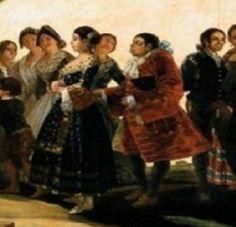 < 결혼식 >, 고야, 1792.  결혼 연회 행사가 나타난 그림이다. 어두운 색 드레스를 입은 신부는 한눈에도 미인이다. 그런데 뒤따르는 신랑은 인물이 영 못났다. 신부의 얼굴에선 신랑에 대한 사랑이나 혼인의 행복이 느껴지지 않는다. 등을 돌리고 걷는 것이 신랑에 차가워 보인다.   이 작품은 초기 로코코적 화풍에 흰색과 검정의 대비하여 당시 사회상의 풍자를 보여주는 것이라 한다. 즉 이 둘의 결합에는 금전이 매개되었던 것이다.   이처럼 결혼은 어떤 거래에 의해 성사되기도 하였고, 기쁠 수 없었던 신부의 마음을 검정이라는 어두운 드레스로 나타낸 것 아닐까.