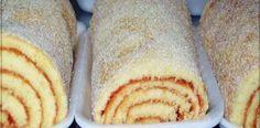 DELICIOSO BOLO DE ROLO, FÁCIL E A GAROTADA ADORA!! VEJA COMO FAZER>>>   Receitas Do Céu Shrimp And Asparagus, Pasta, Hot Dog Buns, Macarons, Mousse, Macedonia, Pudding, Mango, Bread