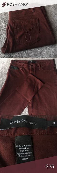 Calvin Klein burgundy pants Like new, only worn a few times. Super soft and stretchy. Calvin Klein burgundy pant. Calvin Klein Pants Trousers